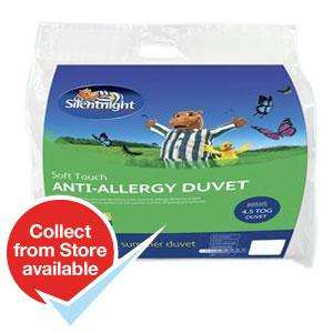 Silentnight Soft Touch Anti-Allergy 4.5 Tog Double Duvet £8.99 @ Home Bargains