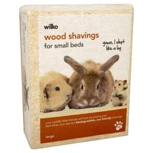 Wilko Pet Bedding Wood Shavings Large Pack £2.99 @ Wilkinson Plus