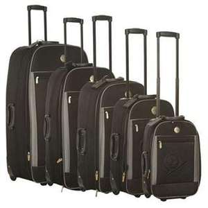 5 Piece Dunlop Trolley Suitcases @ Sports Direct for £55