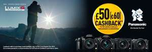 Panasonic Camera and lens cashback  £50/€60 per item