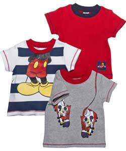 Mickey mouse boys t-shirt 3 pack age 3 months to 18 months was £12.99 now £5.99 R+C @ Argos.