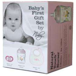50% off  - Girl Newborn Gift Set - bib,soother, bottle £4 @ Nuby Baby
