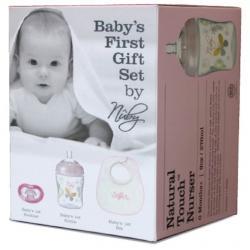 50% off  - Girl Newborn Gift Set - bib,soother, bottle £4 @ Nuby Baby