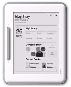 "Ebook, Ereader, iRIVER COVER STORY EBOOK READER (REFURB) WIFI 6"" LCD TOUCH SCREEN WHITE SD EB05W 2GB £37.99 @ ebay xsonly ( Feedback score of 14873)"