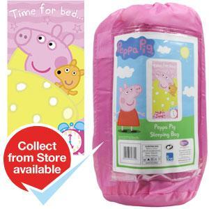Peppa Pig Single Sleeping Bag RRP £29.99 Now £9.99 @ Home Bargains