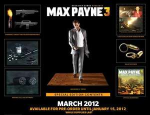 Max Payne 3 Collectors Edition PS3/Xbox 360 £50 Brand New/ PC £30 Brand New @ Grainger Games