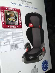Graco Junior Maxi Car Seat reduced to £20 at Morrisons instore
