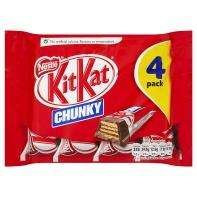 Kit Kat Chunky 4 pack £1 and 100% extra free @ Asda