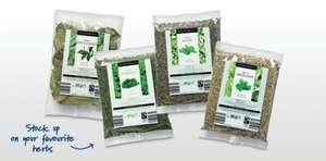 Dried Herb Refill Pouches 99p @ ALDI, Choose from -> Bay Leaves 25g, Parsley 60g, Basil 80g or Oregano 80g