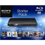 Sony BDP-S185 Blu-ray Player with 8 Free Blu-ray Films £77.99 @ Play