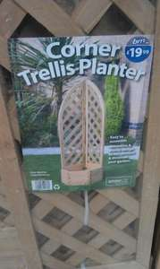 Wooden trellis planter - was £19.99 now £9.99 in B&M bargains