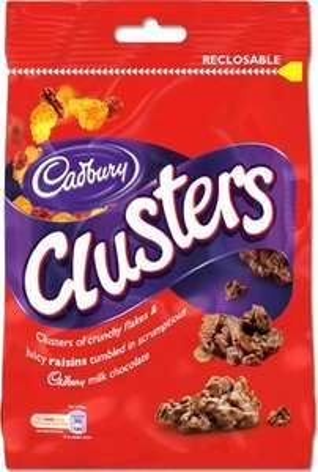 Co-Op: Cadbury Clusters/Giant Buttons/Bitsa Wispa/Twirl Bites/Crunchie Rocks Bags: £1.00