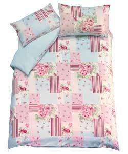 Rose Patchwork Double Duvet Set Only £8.98 Delivered @ Argos eBay Outlet