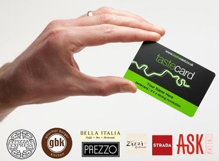 FREE 3 month tastecard membership