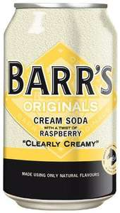 Barr's Original Cream Soda with Raspberry 330 ml (Pack of 24) £10.12 Delivered (Subscribe & Save) @ Amazon