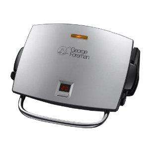 George Foreman 14525 4-Portion Family Removable Plates Grill and Melt in Brushed Steel @ Amazon £44.99