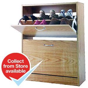 Oslo 2 Tier Shoe Cabinet @ £17.99 HomeBargains