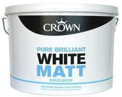 Crown Matt Emulsion 20L for £25 B&Q
