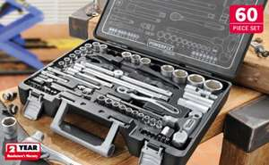 Ratchet Spanner & Socket Set - 60 Pieces - £39.99 @ Lidl