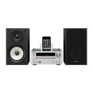 Onkyo CS545UKD (SB) Silver iPod Docking System with Black Speakers - £158.35 @ Amazon