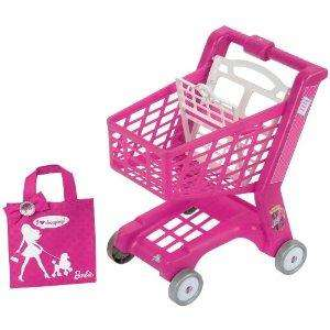Barbie Theo Klein Barbie Shopping Trolley with Shopping Bag (Pink) £8.26 @ AMAZON DEL