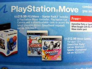 PS3 Move Starter Pack £19.99 @ Argos instore