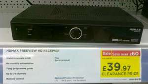 HUMAX HD-FOX T2 £39.97  (instore) @ Currys & PC World