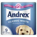 Andrex toilet tissue rolls 9pack £3 @ morrisons