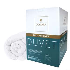 Dorma Full Forever 10.5 tog Duvet 50% off - from £14.99 for a single r & c @ Dunelm Mill
