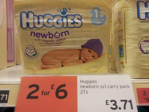 Huggies Newborn 1 27 Pack 1000g at Sainsburys Superstore