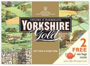 2 Free Tea Bags and 30p Off Coupon - Yorkshire Tea Gold