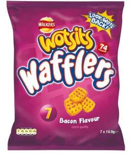Wotsits Wafflers ARE BACK!!!!!!!!!! (bacon flavour) 7 pack £1 @ Poundland