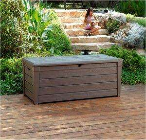 Keter Brightwood Large 455L Outdoor Garden Deck Storage Box/Seat/Bench/Shed ONLY £68 (inc vat) @ costco