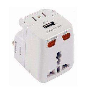Universal Travel Charger Adapter Plug with USB Port - £0.99 at 99p Stores