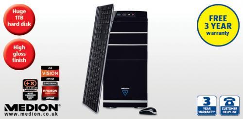 MEDION® AKOYA® E4060 D (MD8369) 4GB ram, 1tb hard drive, 3yr warranty £349.99 @ Aldi