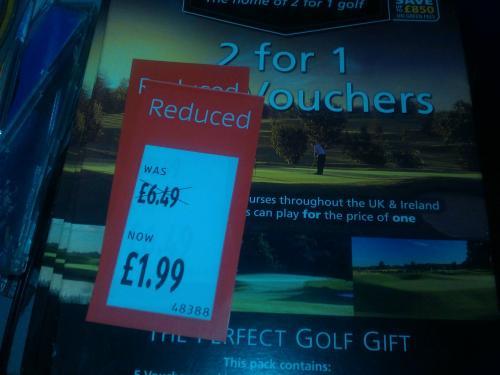 Greenfree 2 for 1 Golf Vouchers x 5  £1.99 @ ALDI