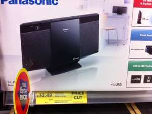 Panasonic sc-hc15eb-k compact stereo system with usb and cd playback instore @ Tesco reduced to £32.49
