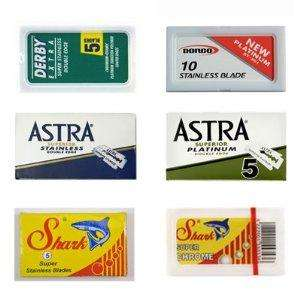 Derby-Astra-Dorco-Shark, Double Edge Safety Razor Blade Sampler Pack - 40 blades was £10.00 Now £5.90 @ Amazon sold by SHAVINGWORLD