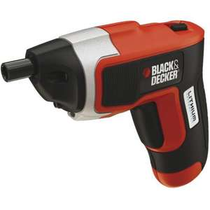 Black & Decker 3.6v Lithium Compact Screwdriver £20.00 @ B&Q This weekend only.