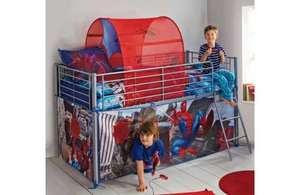 Kids spiderman mid sleeper bed £82.31 eachwhen you buy 3! @ Homebase