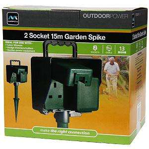 Masterplug Garden Spike Extension Lead 15m Only £9.99 Instore @ Home Bargains
