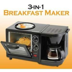 HYUNDAI 3 in 1 Breakfast maker: Toaster Oven, Coffee Machine & Frying Pan NOW £19.99 Instore @ Poundstretcher