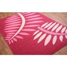 Fuchsia Pink Modern Rug 5ft 11'' x 8ft 10'' £39.98 @ The Rug House