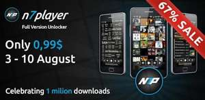 n7player Full Version Unlocker for android £0.79 @ google play