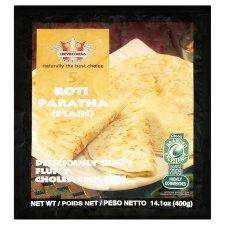 Crown Farm Plain Paratha 5S 400G Cholesterol free half price £0.50 @ tesco