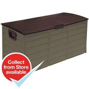 Brown Garden Storage Box Home Bargains £27.99