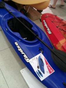 Osprey Kayak, Impact resistant, Paddle, Footrest and Neoprene spray deck included @ This Is It, Poole, Instore