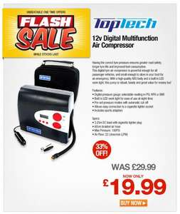 Digital Multifunction Air Compressor - £19.99 Delivered @ Euro Car Parts