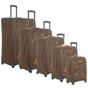 Kangol 5 Piece 4 Wheel Suitcase Set - Chocolate (Was £399.95) Now £130 + Free Delivery at Sports Direct Outlet-eBay