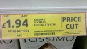 Tassimo Suchard Hot Chocolate Tesco instore half price - £1.94